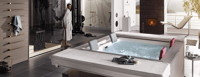 Strato jacuzzi bij Puro Lifestyle en Business Event